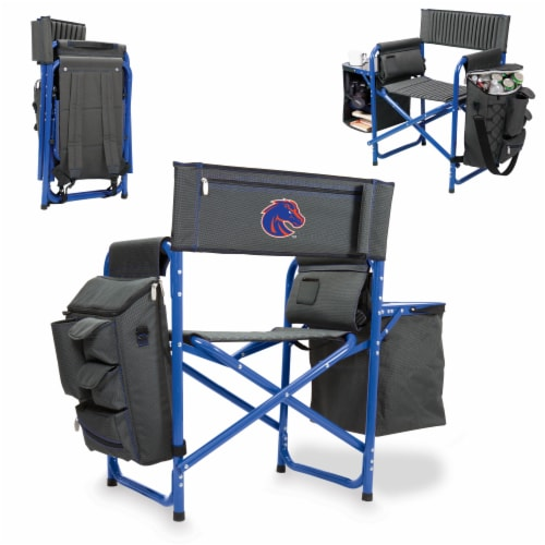 Boise State Broncos - Fusion Backpack Chair with Cooler Perspective: back