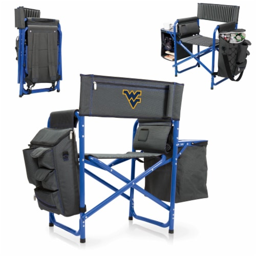 West Virginia Mountaineers - Fusion Backpack Chair with Cooler Perspective: back