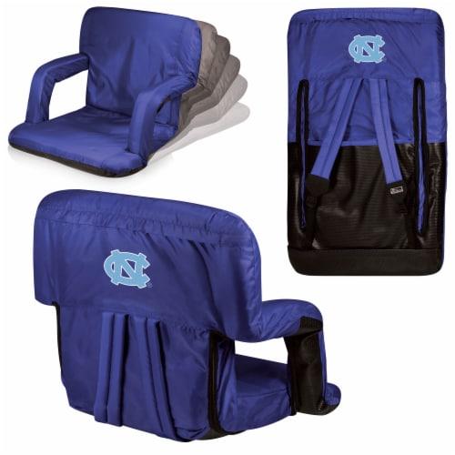 North Carolina Tar Heels Ventura Portable Reclining Stadium Seat - Navy Perspective: back