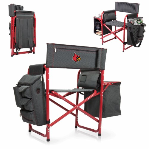 Louisville Cardinals - Fusion Backpack Chair with Cooler Perspective: back