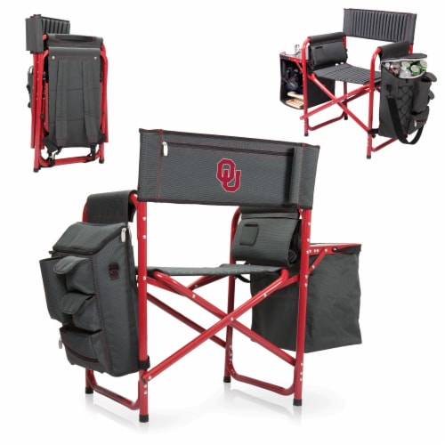 Oklahoma Sooners - Fusion Backpack Chair with Cooler Perspective: back