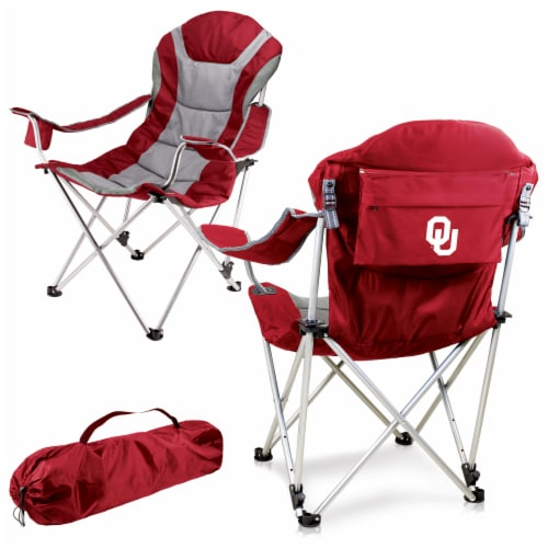 Oklahoma Sooners - Reclining Camp Chair Perspective: back