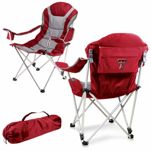 Texas Tech Red Raiders - Reclining Camp Chair Perspective: back
