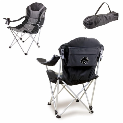 Boise State Broncos - Reclining Camp Chair Perspective: back