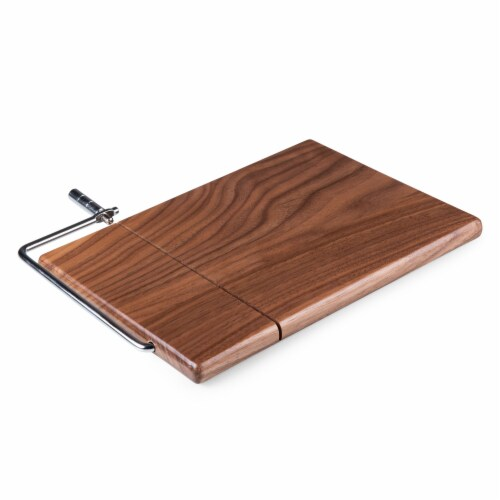 Meridian Black Walnut Cutting Board & Cheese Slicer, Black Walnut Perspective: back