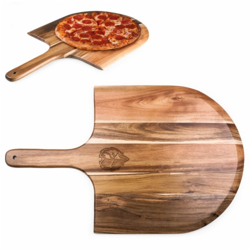 Baltimore Ravens - Acacia Pizza Peel Serving Paddle Perspective: back