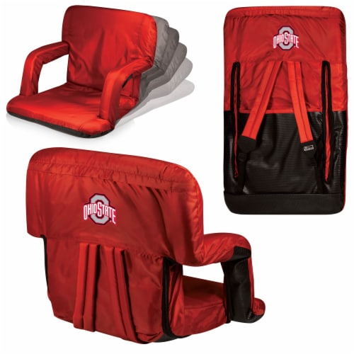 Ohio State Buckeyes Ventura Portable Reclining Stadium Seat - Red Perspective: back