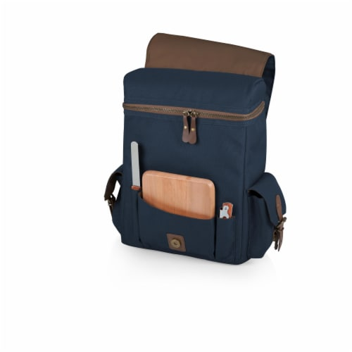 Moreno 3-Bottle Wine & Cheese Tote, Navy Blue Perspective: back