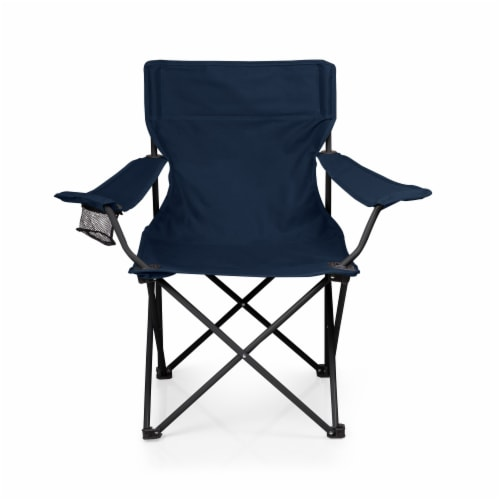 PTZ Camp Chair, Navy Blue Perspective: back