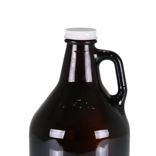 Glass 64 oz. Growler, Amber Perspective: back