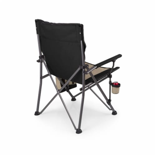 Big Bear XL Folding Camp Chair with Cooler, Black Perspective: back