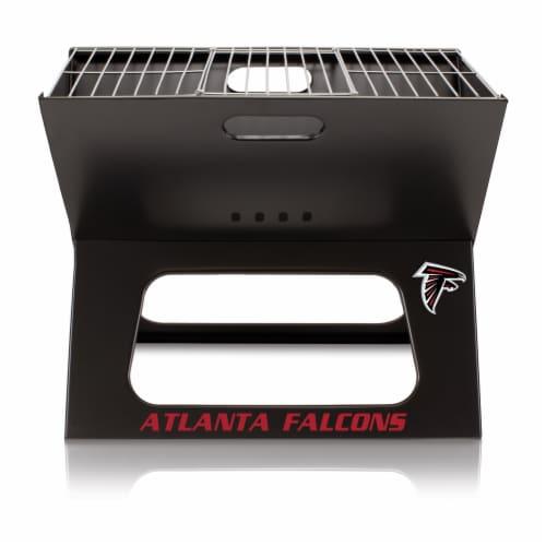 Atlanta Falcons - X-Grill Portable Charcoal BBQ Grill Perspective: back