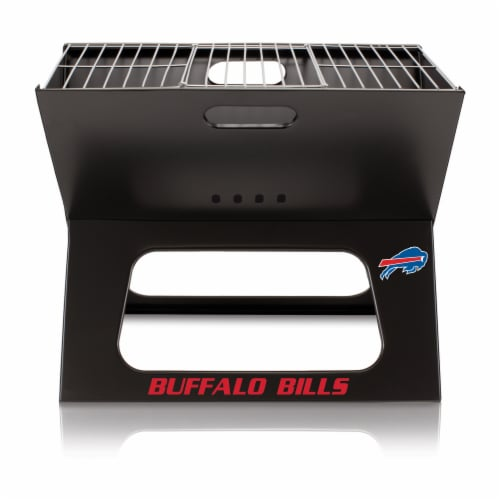 Buffalo Bills - X-Grill Portable Charcoal BBQ Grill Perspective: back