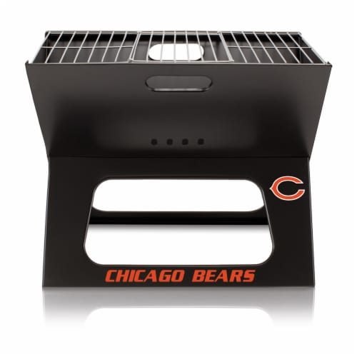 Chicago Bears - X-Grill Portable Charcoal BBQ Grill Perspective: back