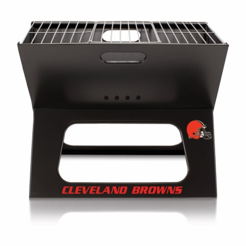 Cleveland Browns - X-Grill Portable Charcoal BBQ Grill Perspective: back