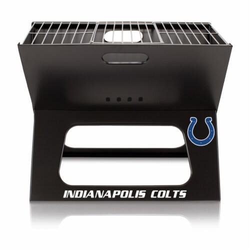 Indianapolis Colts - X-Grill Portable Charcoal BBQ Grill Perspective: back
