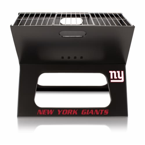 New York Giants - X-Grill Portable Charcoal BBQ Grill Perspective: back