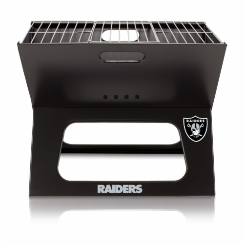 Las Vegas Raiders - X-Grill Portable Charcoal BBQ Grill Perspective: back