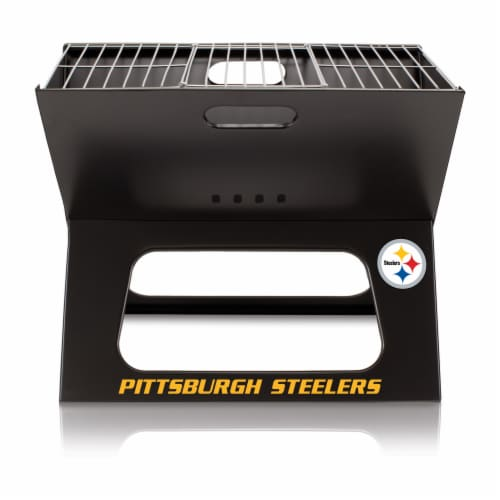 Pittsburgh Steelers - X-Grill Portable Charcoal BBQ Grill Perspective: back