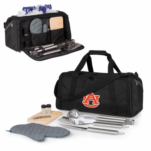 Auburn Tigers - BBQ Kit Grill Set & Cooler Perspective: back