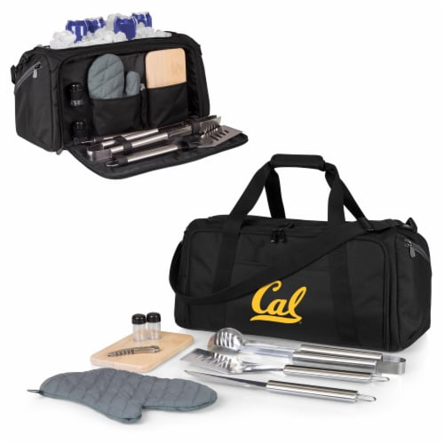 Cal Bears - BBQ Kit Grill Set & Cooler Perspective: back
