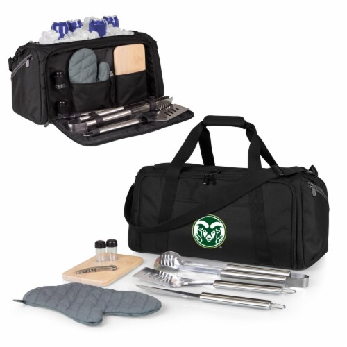 Colorado State Rams - BBQ Kit Grill Set & Cooler Perspective: back