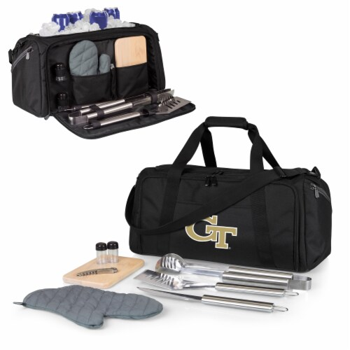 Georgia Tech Yellow Jackets - BBQ Kit Grill Set & Cooler Perspective: back