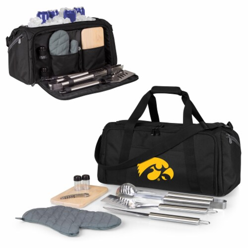 Iowa Hawkeyes - BBQ Kit Grill Set & Cooler Perspective: back