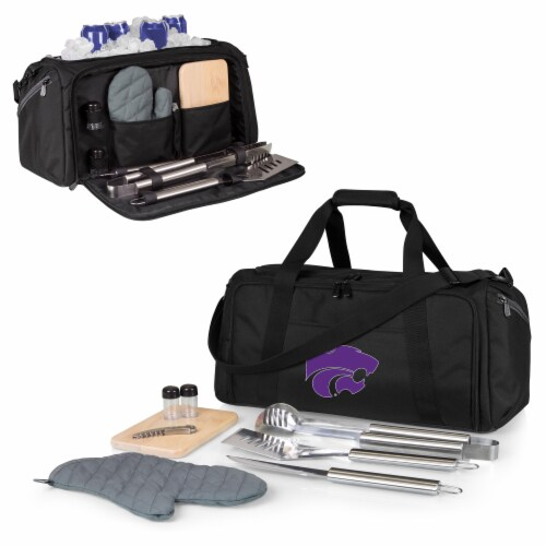 Kansas State Wildcats - BBQ Kit Grill Set & Cooler Perspective: back