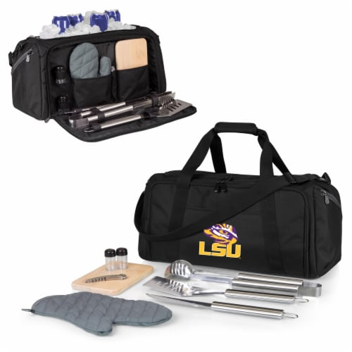 LSU Tigers - BBQ Kit Grill Set & Cooler Perspective: back