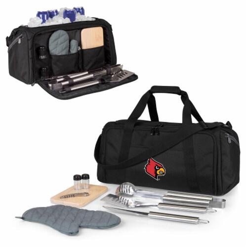 Louisville Cardinals - BBQ Kit Grill Set & Cooler Perspective: back