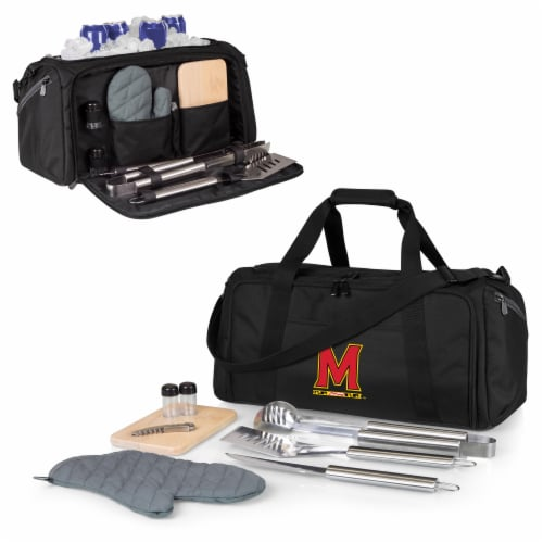 Maryland Terrapins - BBQ Kit Grill Set & Cooler Perspective: back