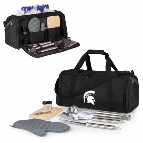 Michigan State Spartans - BBQ Kit Grill Set & Cooler Perspective: back