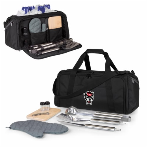 NC State Wolfpack - BBQ Kit Grill Set & Cooler Perspective: back
