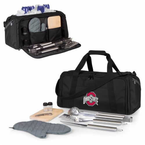 Ohio State Buckeyes - BBQ Kit Grill Set & Cooler Perspective: back