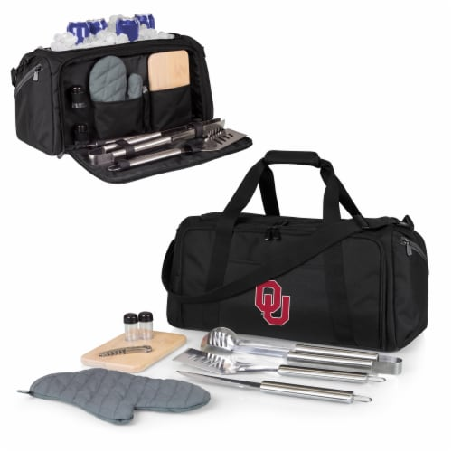 Oklahoma Sooners - BBQ Kit Grill Set & Cooler Perspective: back
