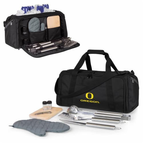 Oregon Ducks - BBQ Kit Grill Set & Cooler Perspective: back