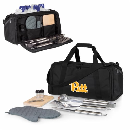 Pitt Panthers - BBQ Kit Grill Set & Cooler Perspective: back