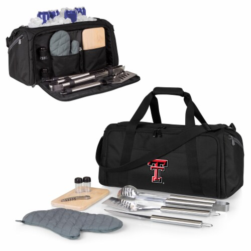Texas Tech Red Raiders - BBQ Kit Grill Set & Cooler Perspective: back