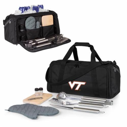 Virginia Tech Hokies - BBQ Kit Grill Set & Cooler Perspective: back