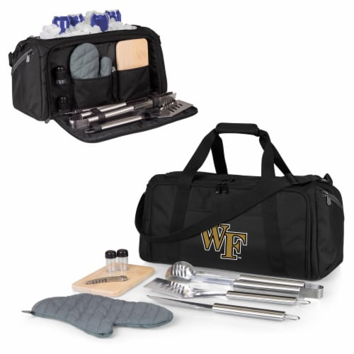 Wake Forest Demon Deacons - BBQ Kit Grill Set & Cooler Perspective: back
