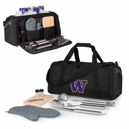 Washington Huskies - BBQ Kit Grill Set & Cooler Perspective: back
