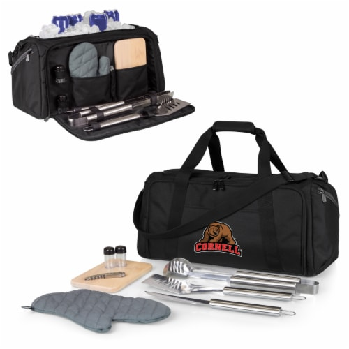 Cornell Big Red - BBQ Kit Grill Set & Cooler Perspective: back