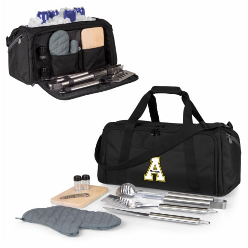 App State Mountaineers - BBQ Kit Grill Set & Cooler Perspective: back