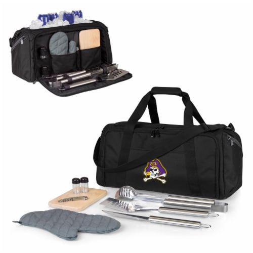 East Carolina Pirates - BBQ Kit Grill Set & Cooler Perspective: back