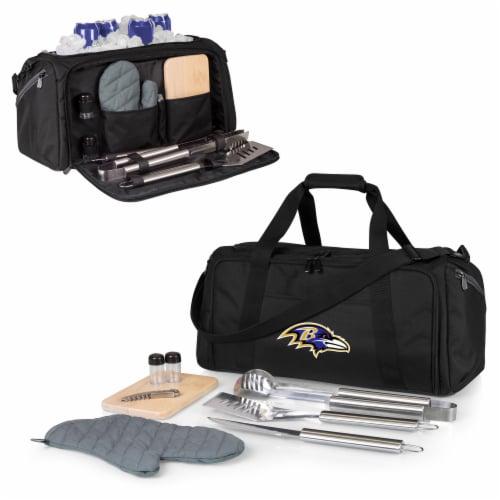 Baltimore Ravens - BBQ Kit Grill Set & Cooler Perspective: back