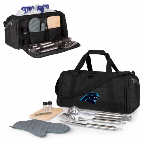 Carolina Panthers - BBQ Kit Grill Set & Cooler Perspective: back