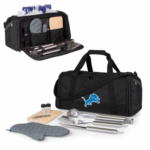 Detroit Lions - BBQ Kit Grill Set & Cooler Perspective: back
