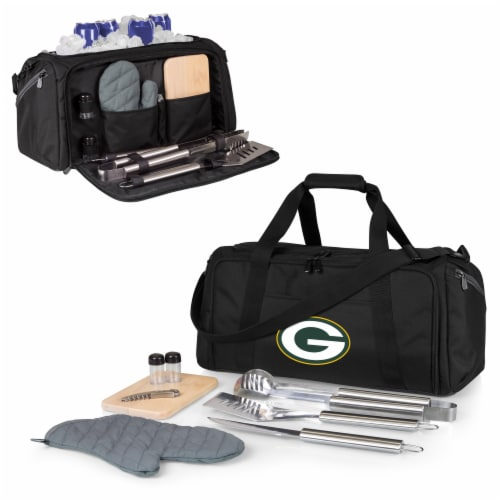Green Bay Packers - BBQ Kit Grill Set & Cooler Perspective: back