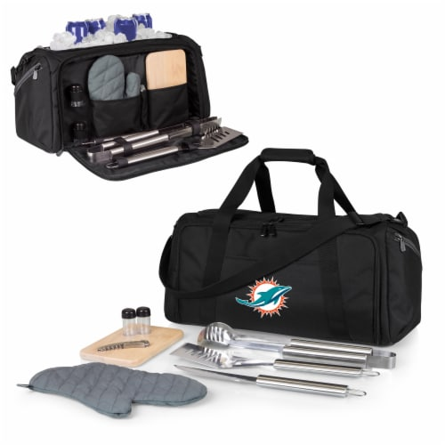 Miami Dolphins - BBQ Kit Grill Set & Cooler Perspective: back